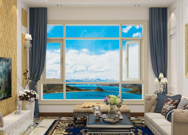 8128 double color casement window